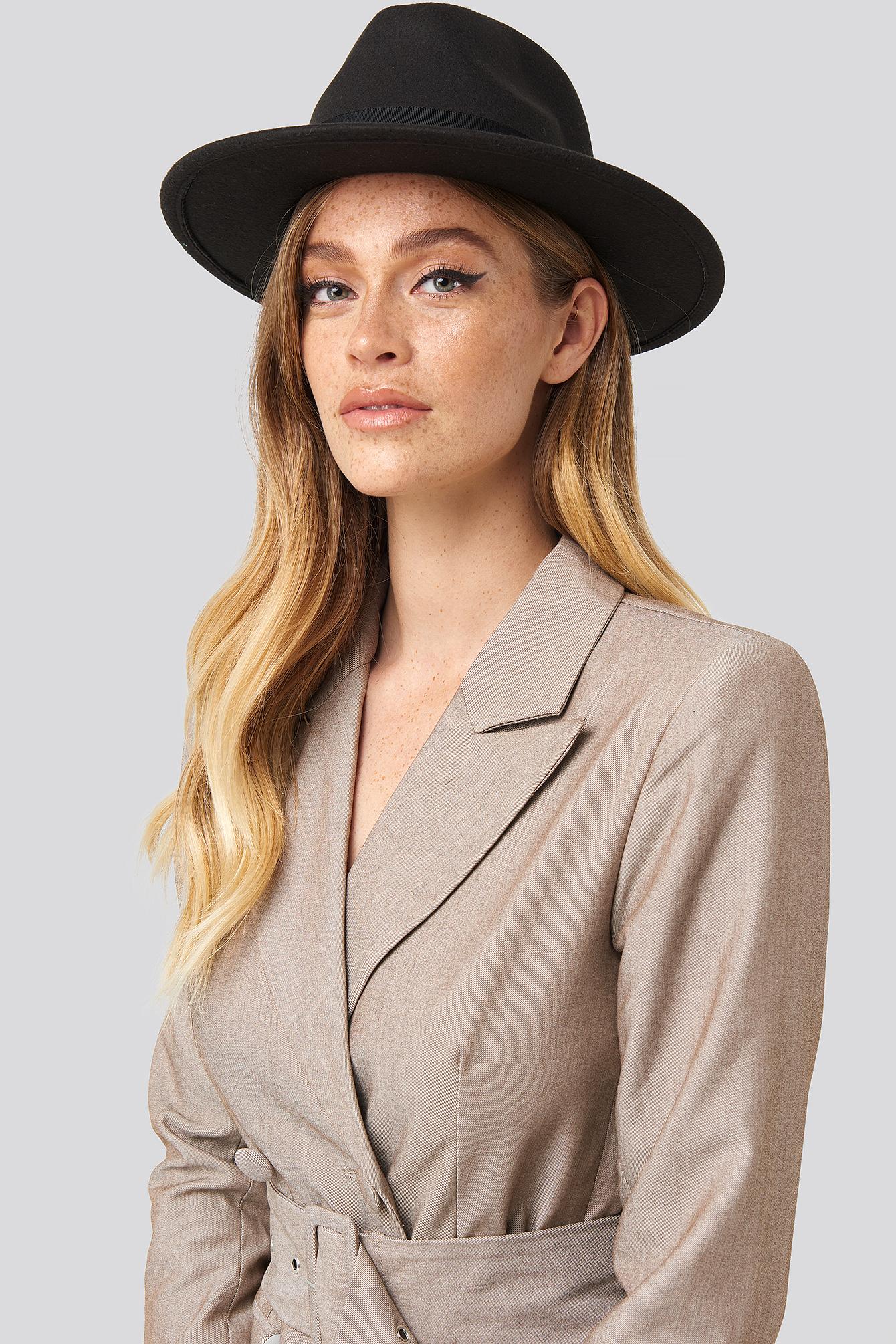 na-kd accessories -  Basic Fedora Hat - Black