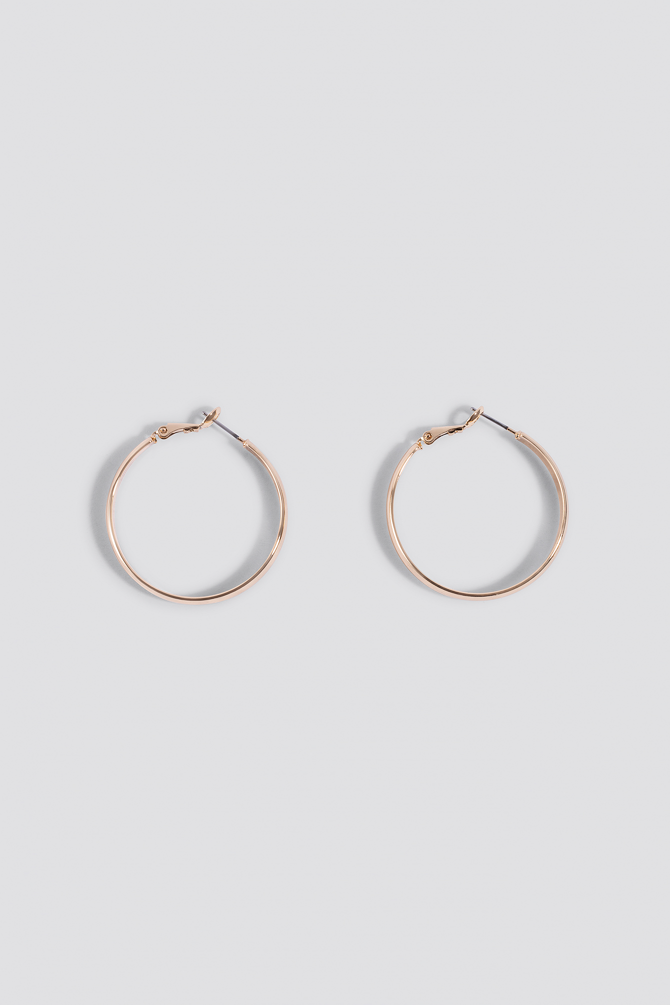 Basic Flat Hoop Earrings NA-KD.COM