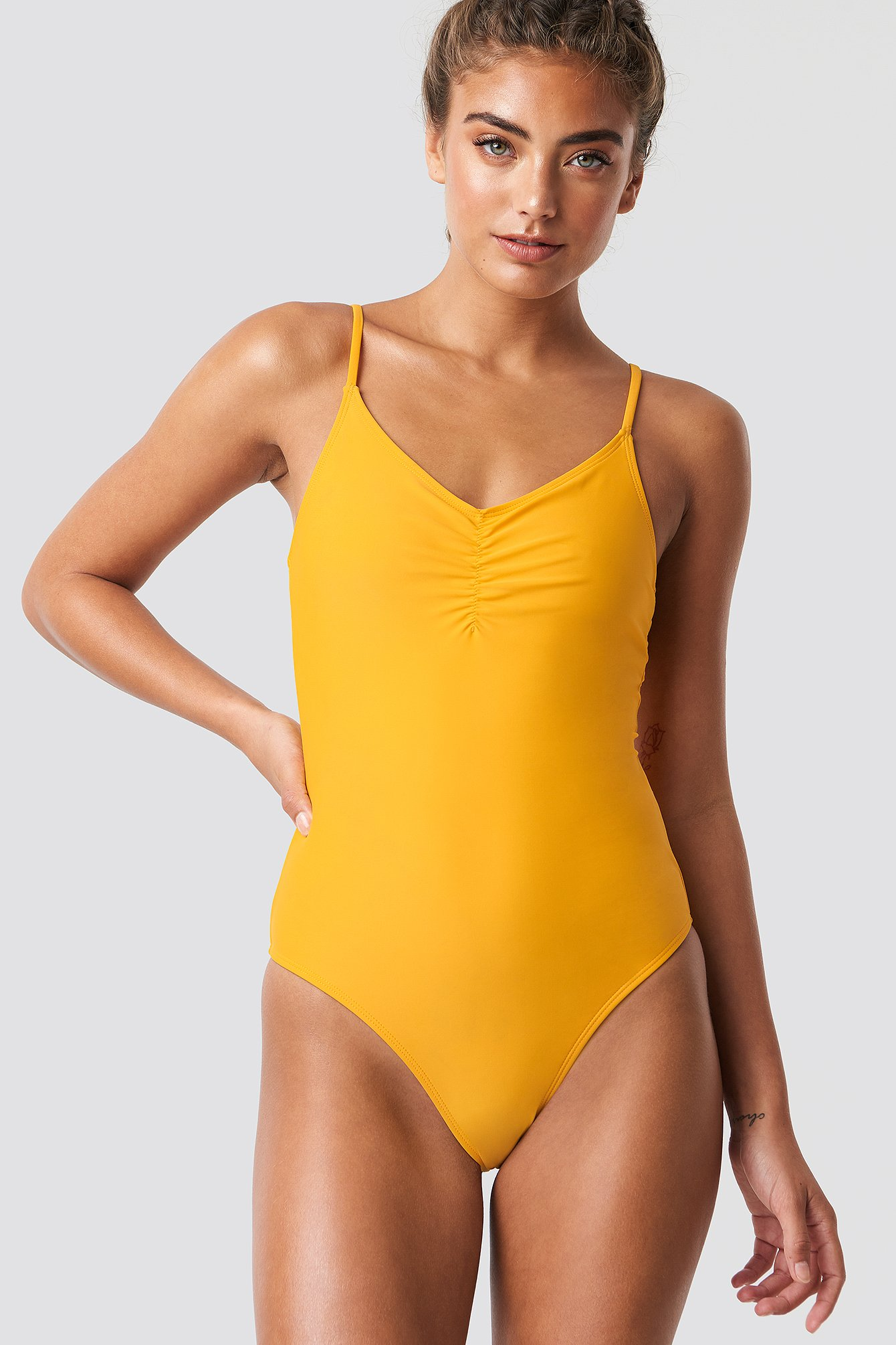 Citrus Basic Front Ruched Swimsuit