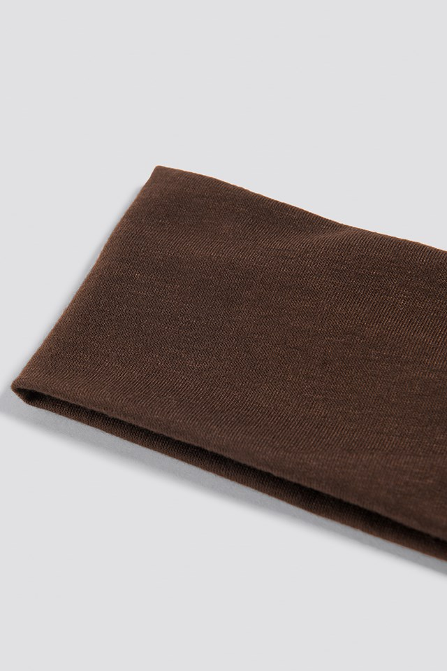 Basic Hairband Brown