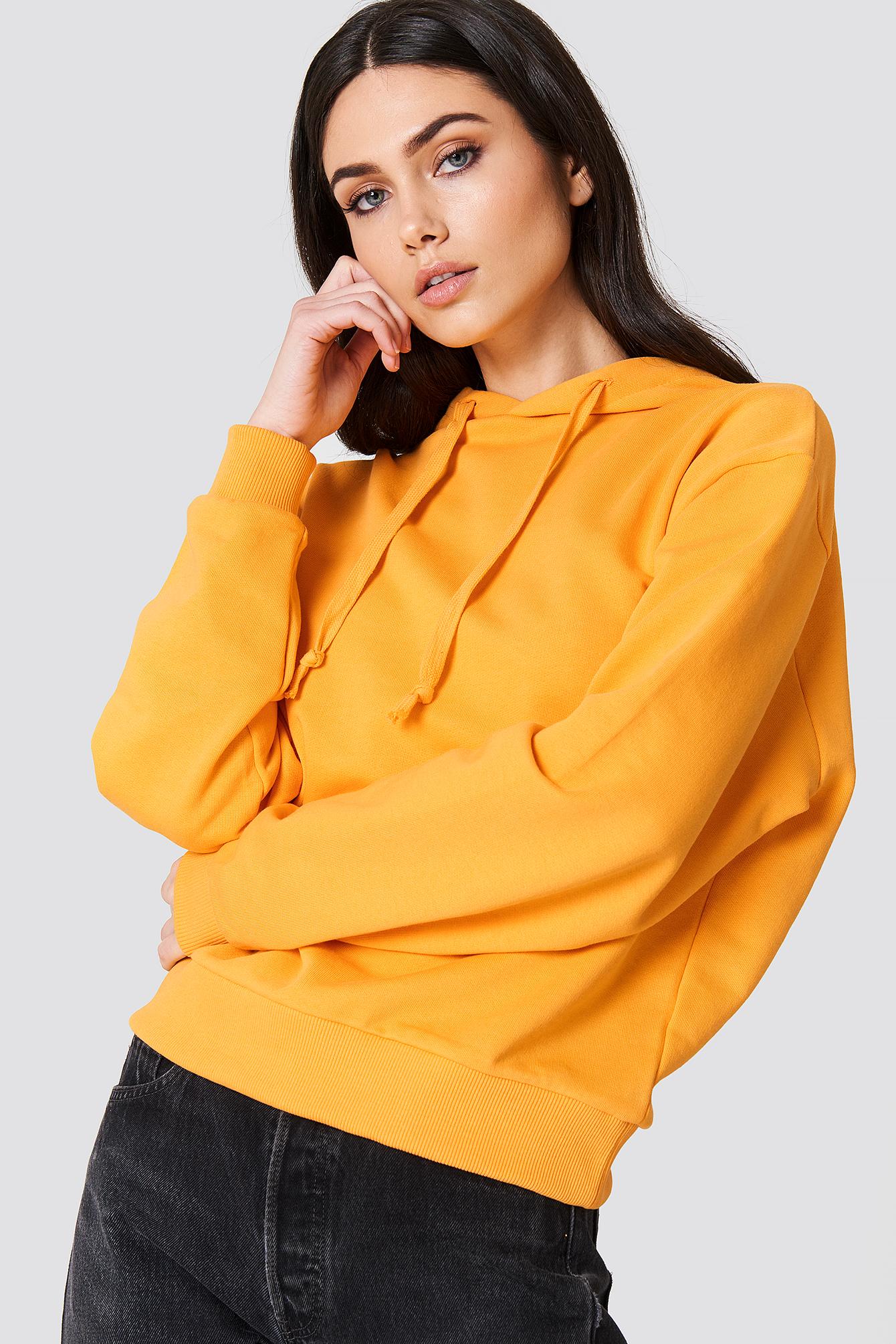 na-kd basic -  Basic Hoodie - Orange