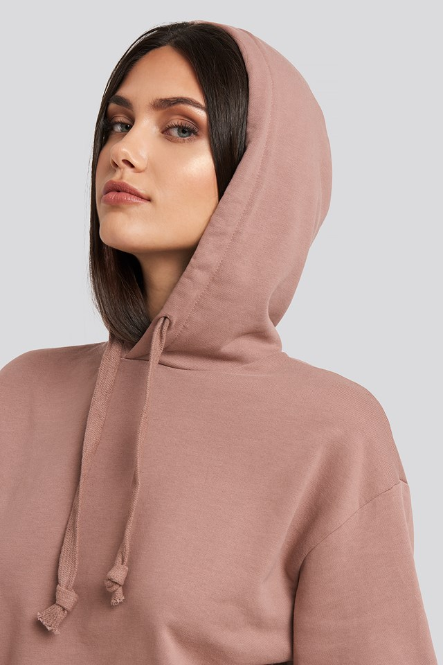 Basic Hoodie Dusty Dark Pink
