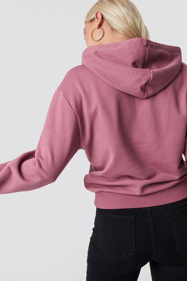 Basic Hoodie Purple Rose