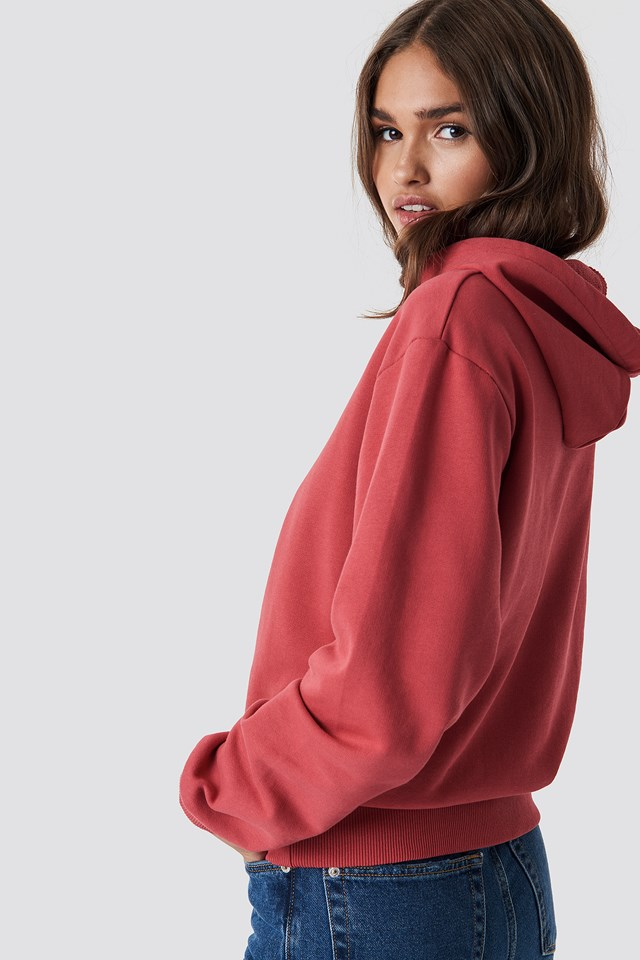 Basic Hoodie Washed Red