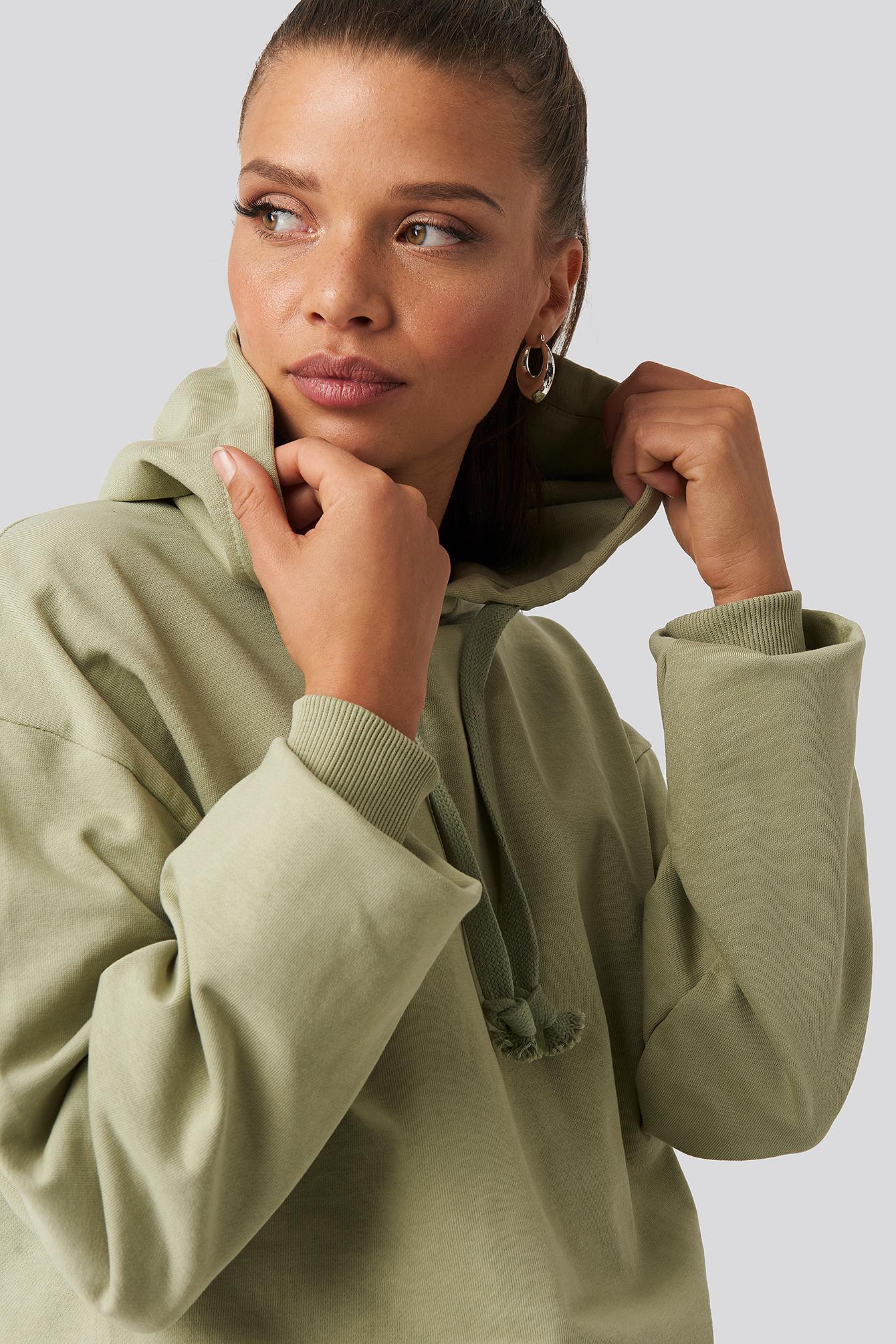 NA-KD Basic Basishættetrøje - Green