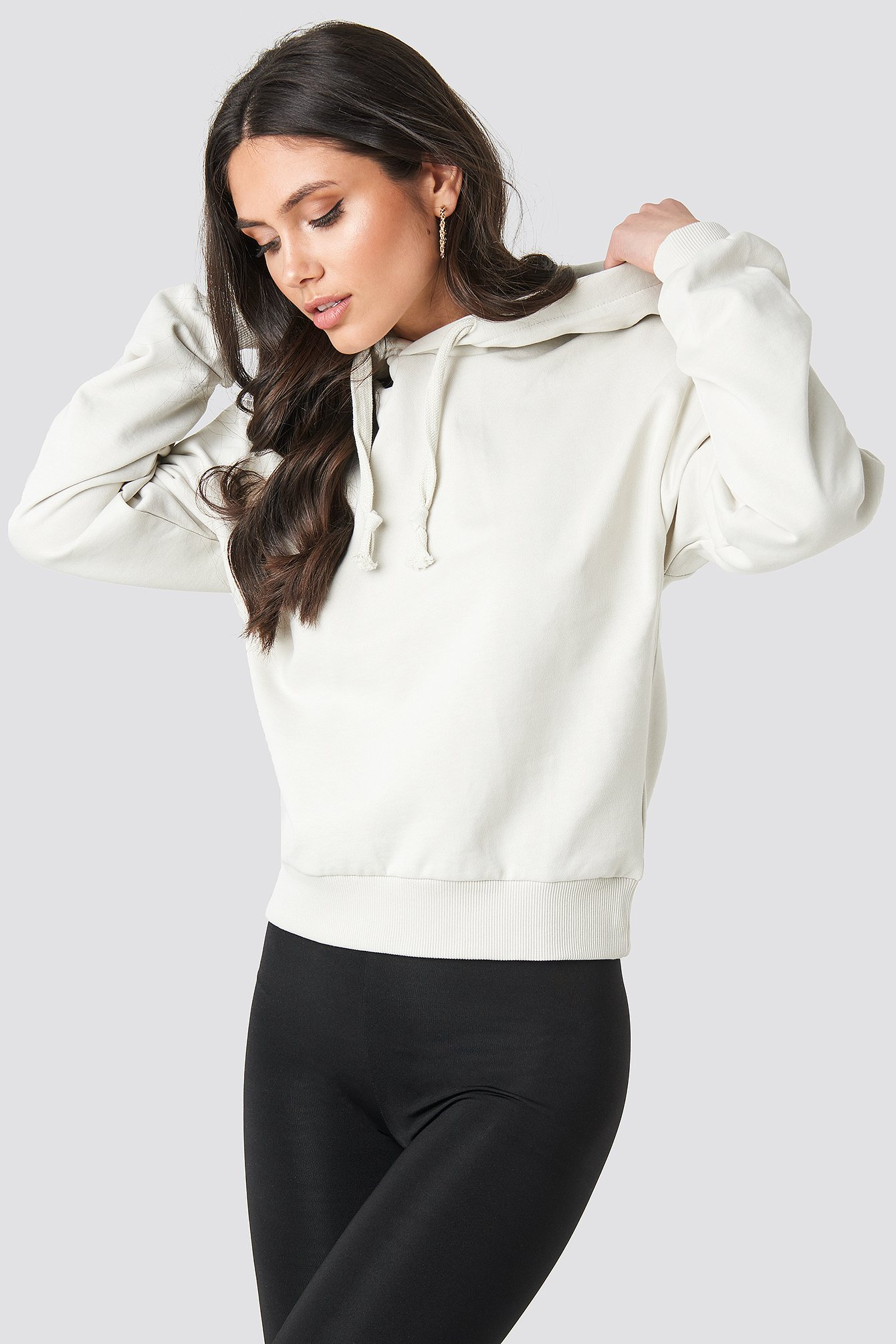 Dusty Light Beige Normale Hoodie