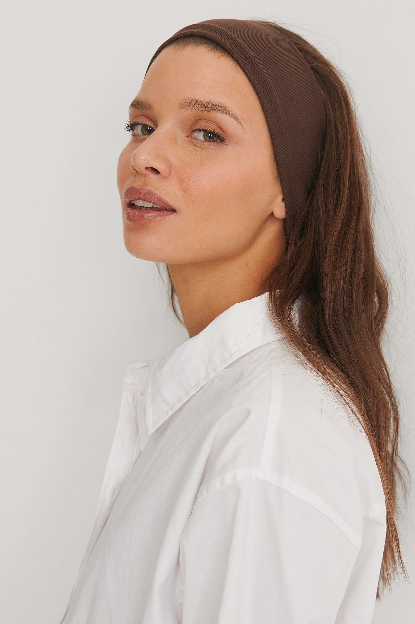 Brown Basic Jersey Headband