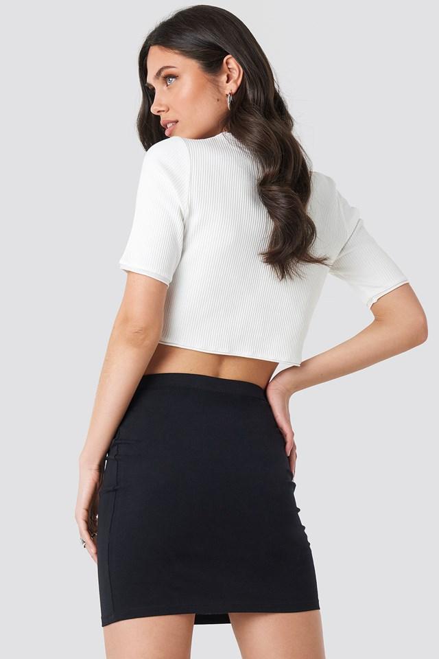 Basic Jersey Skirt Black