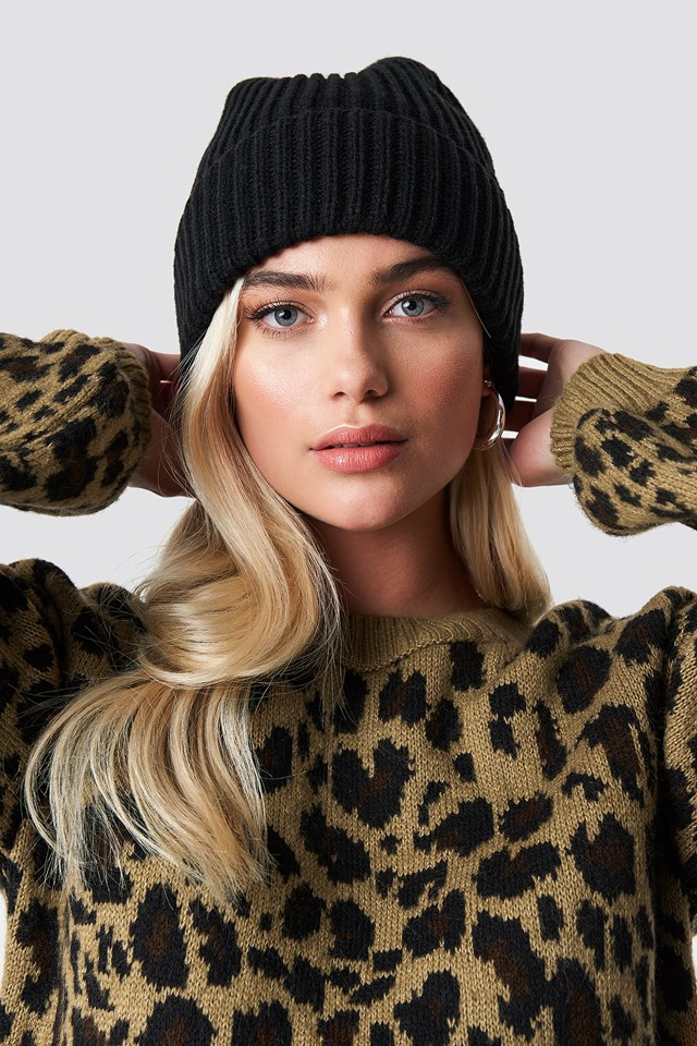 Basic Knitted Beanie Black