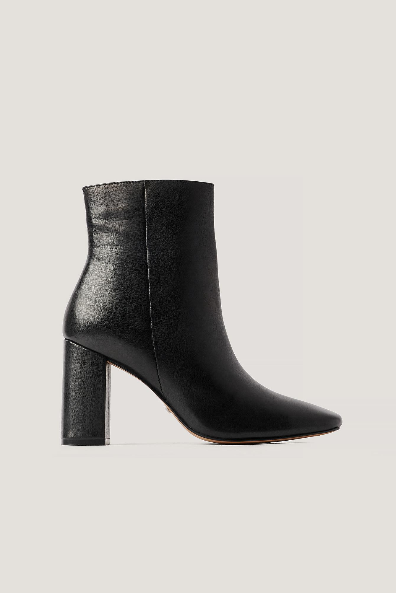 NA-KD Shoes Basic-Nahkasaappaat - Black