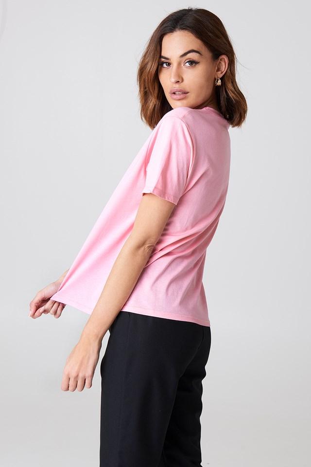 Basic Oversized Tee Light Pink