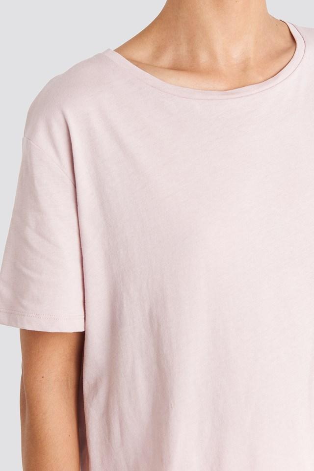 Basic Oversized Tee Dusty Light Pink