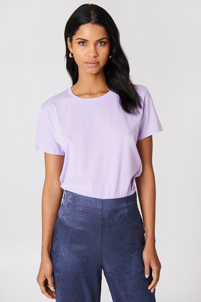 Basic Oversized Tee Light Purple