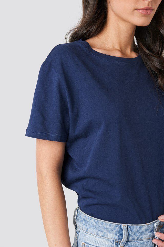 Basic Oversized Tee Navy