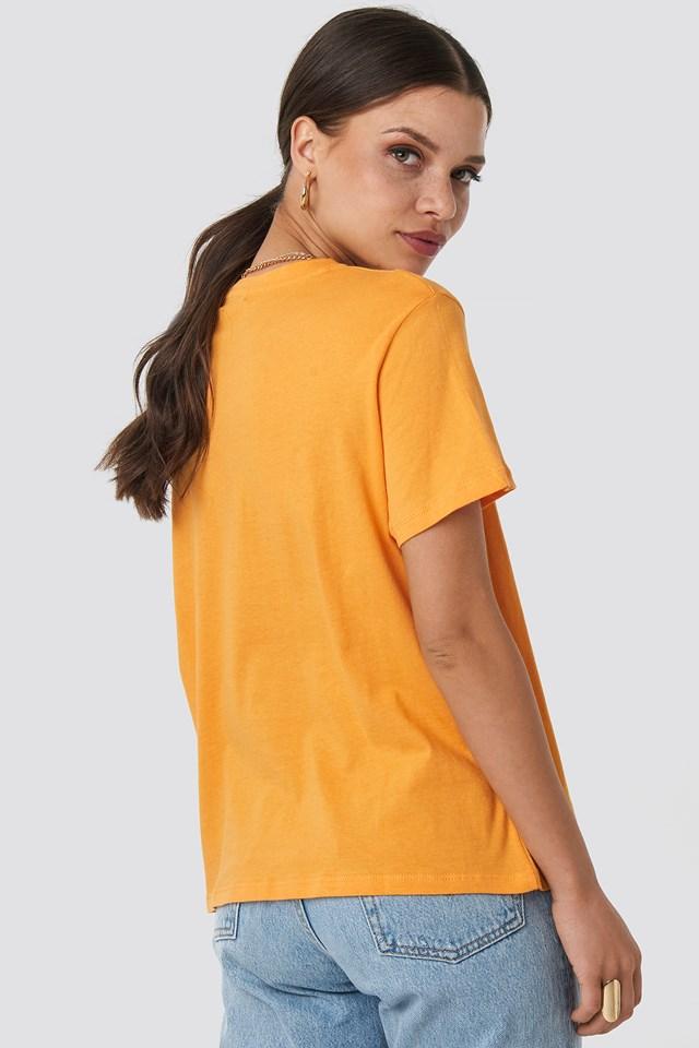 Basic Oversized Tee Orange