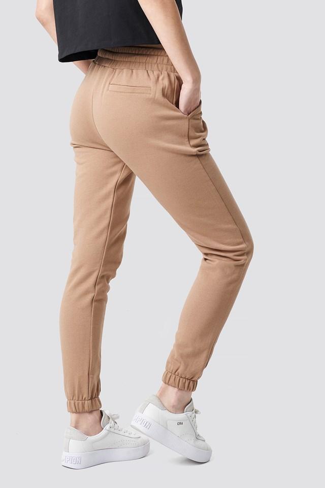 Basic Panel Sweatpants Dark Beige