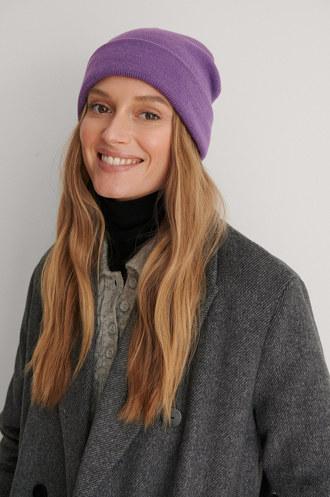 Strong Purple Recycled Basbeanie