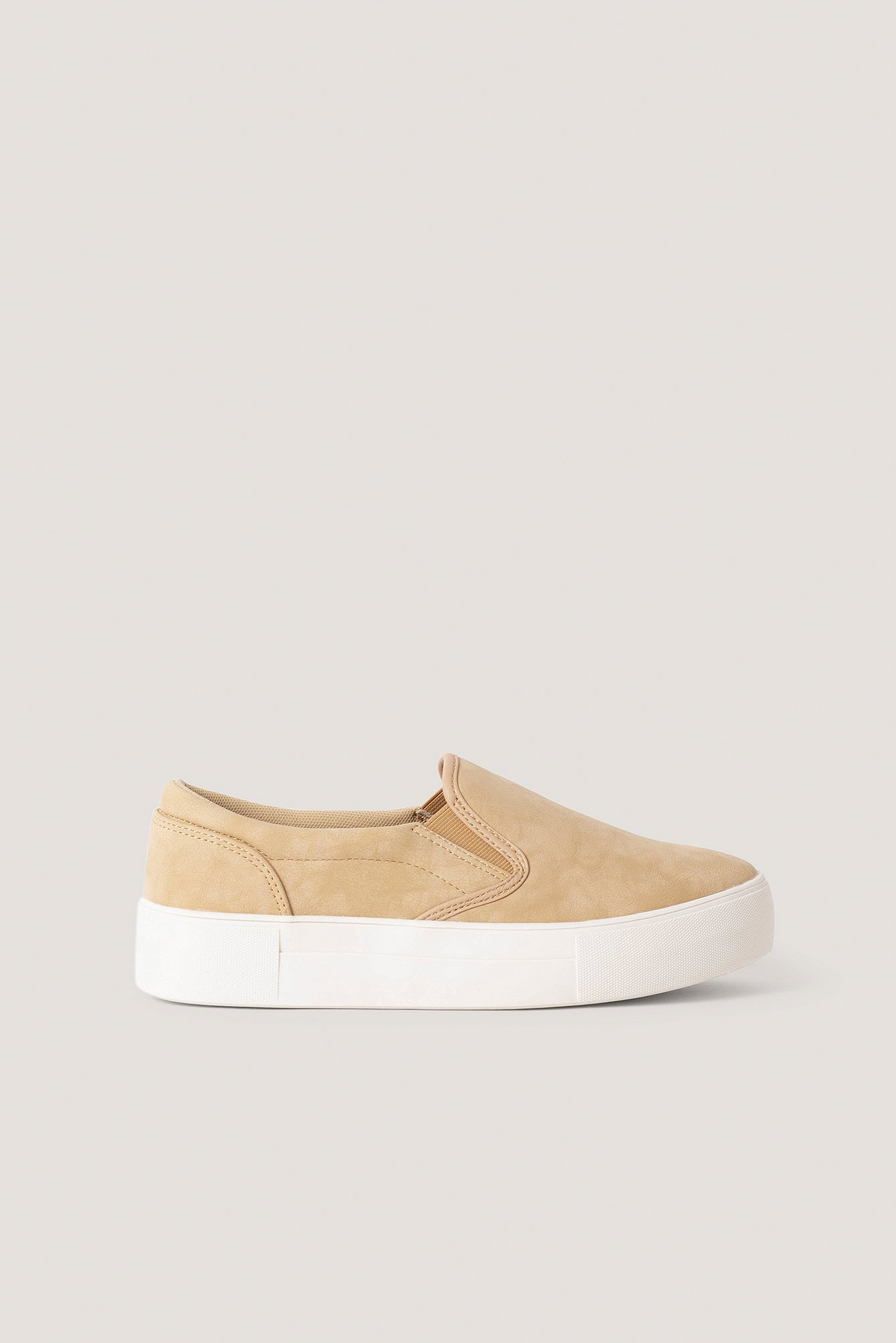 Beige Basic Slip In Trainers