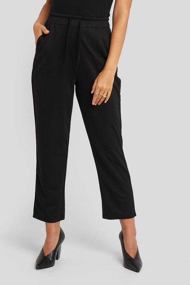 Basic Slip Pants Black