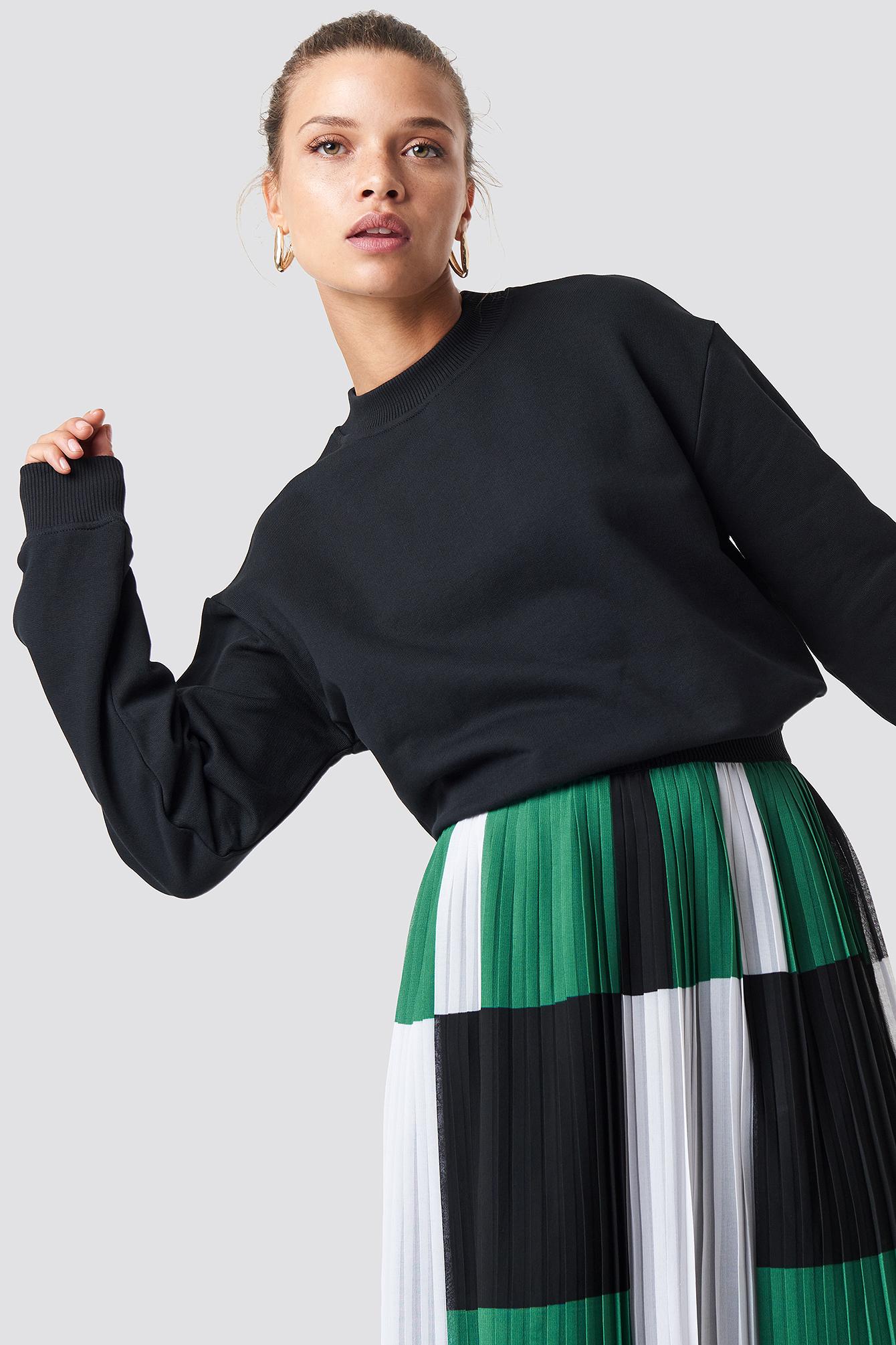 na-kd basic -  Basic Sweater - Black