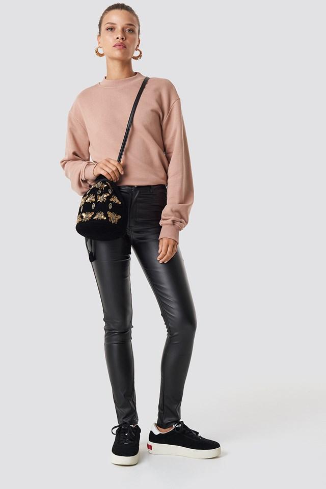 Basic Sweater Dusty Dark Pink