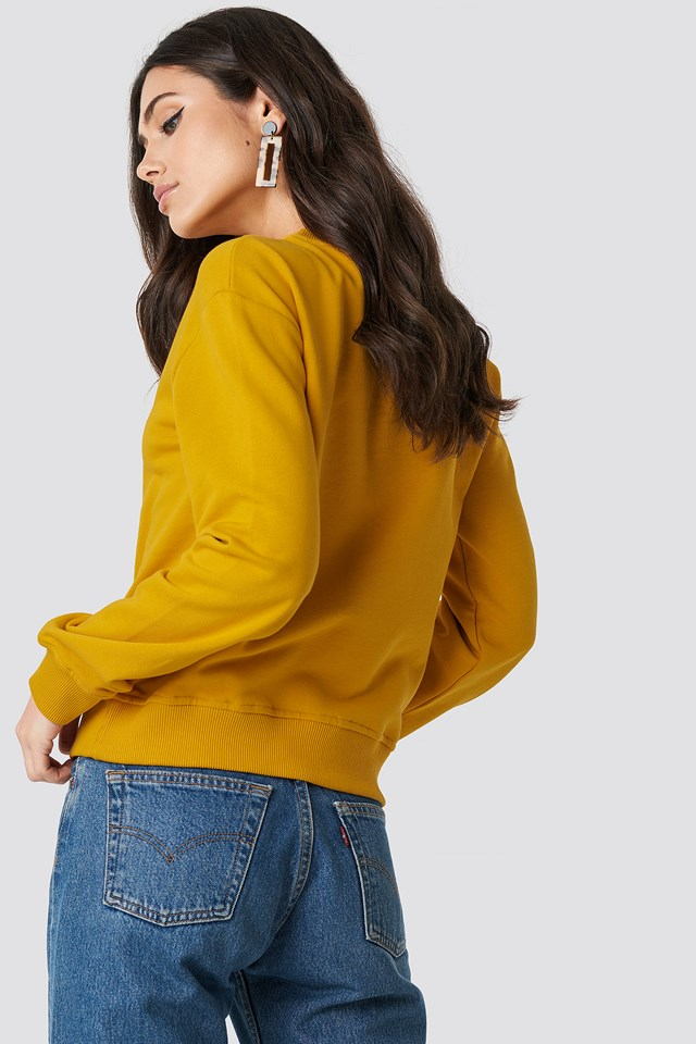 Basic Sweater Mustard Yellow