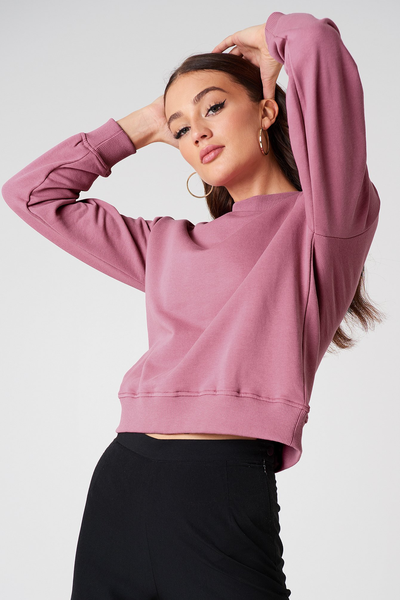na-kd basic -  Basic Sweater - Pink