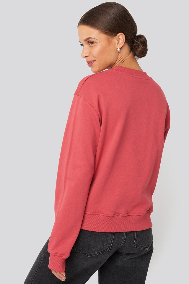 Basic Sweater Washed Red