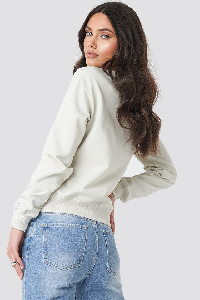 Basic Sweater Dusty Light Beige