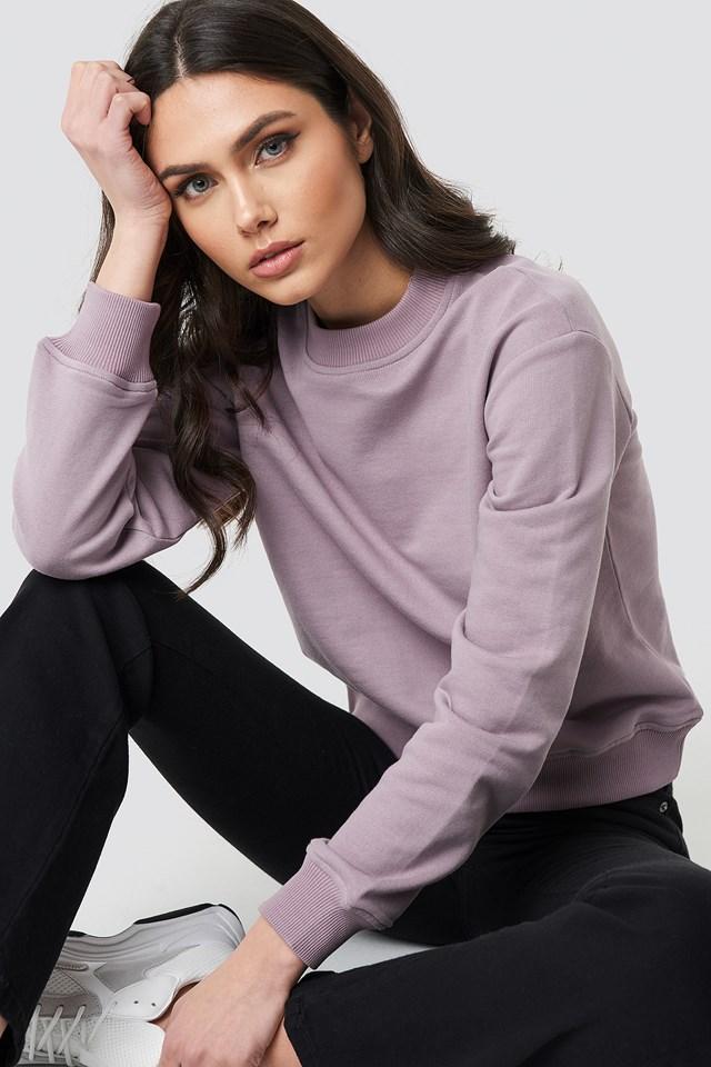 Basic Sweater Dusty Light Purple