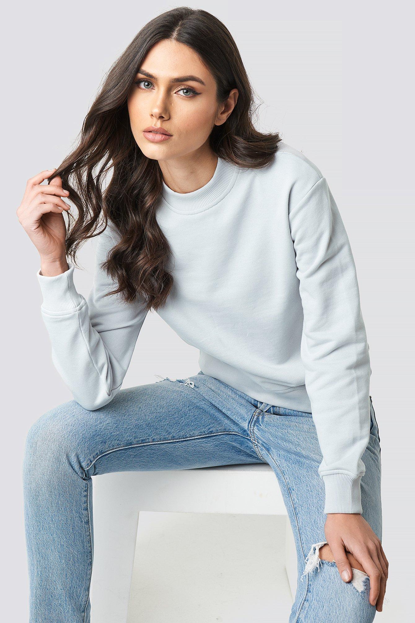 na-kd basic -  Normaler Pullover - Grey