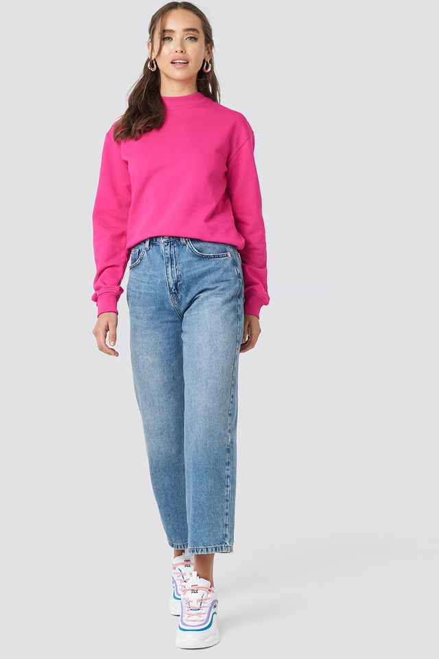Basic Sweater Strong pink