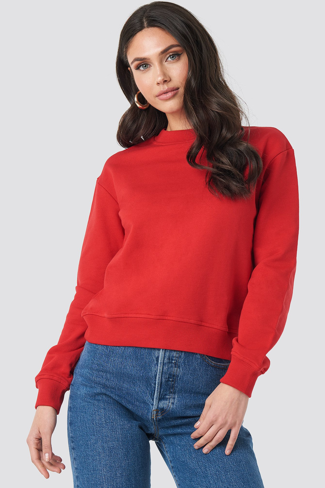 Red Basic Sweater