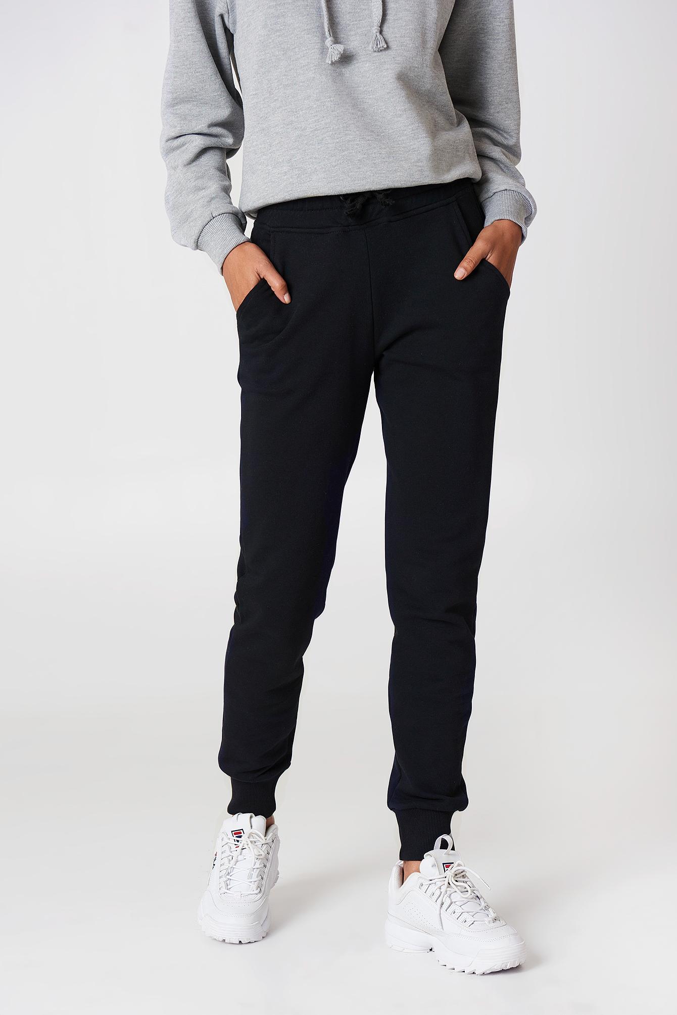 Spodnie dresowe basic NA-KD.COM