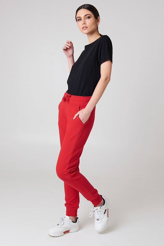 Basic Sweatpants Red