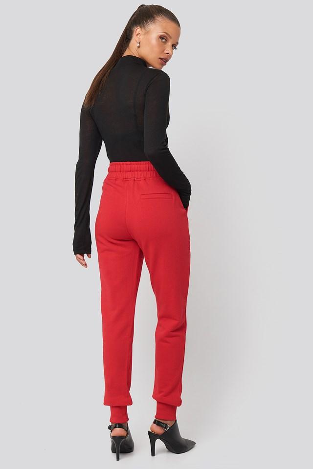 Basic Sweatpants Red