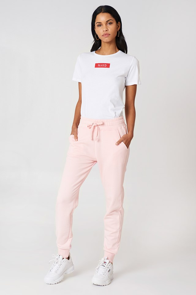 Basic Sweatpants Light Pink