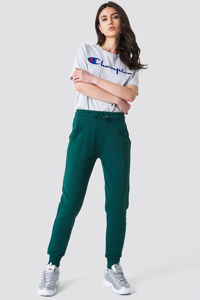 Basic Sweatpants Dark Green