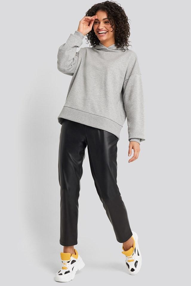 Basic Wide Hoodie Grey Mel