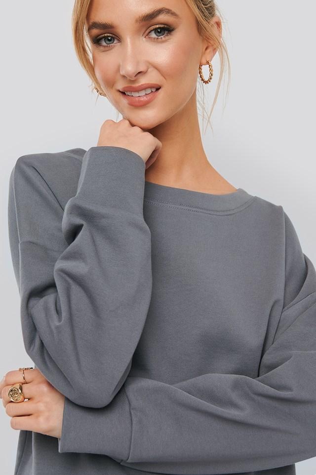 Basic Wide Sweater Dark Grey