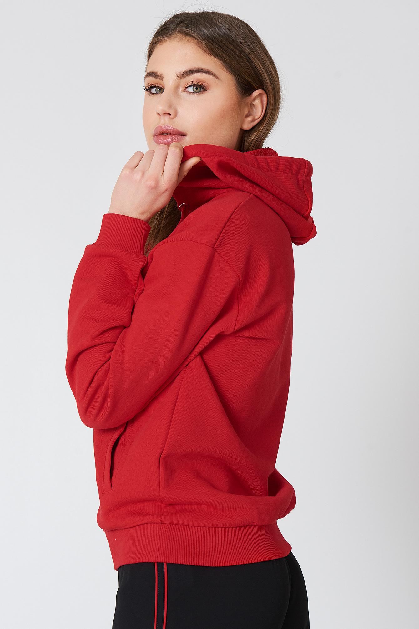 Basic Zipped Hoodie NA-KD.COM