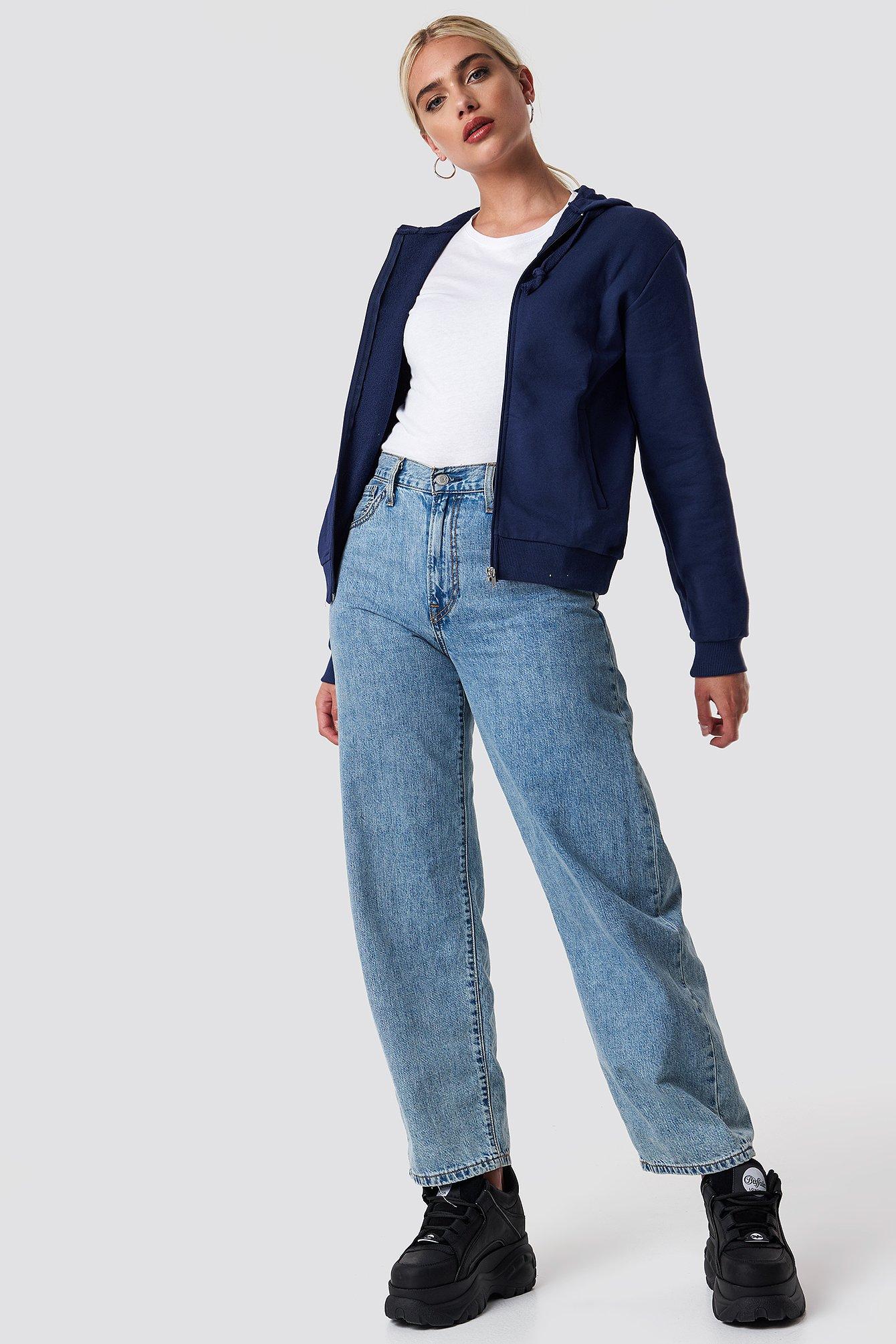 Bluza basic z kapturem NA-KD.COM
