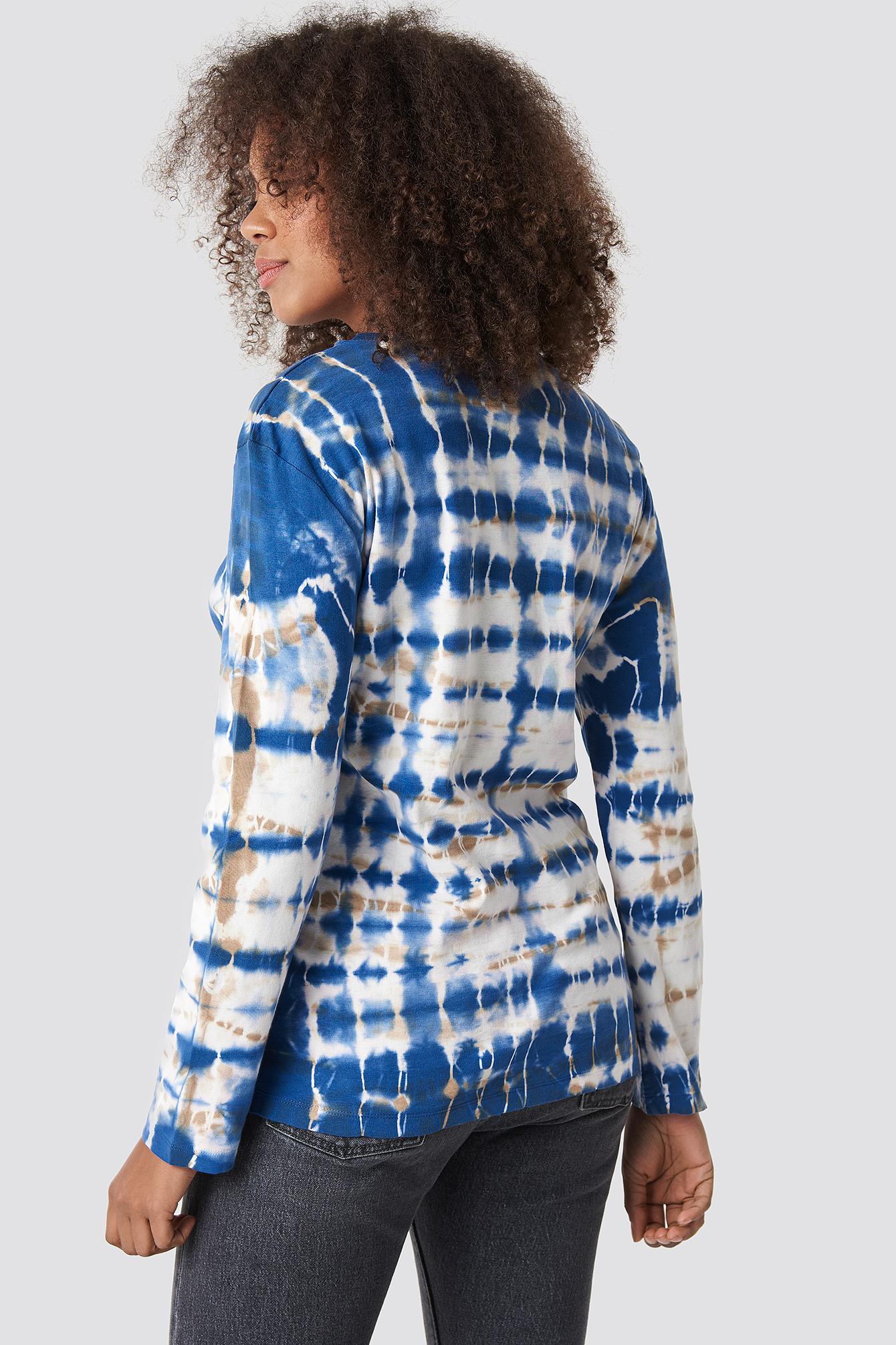Batik Ribbed Top NA-KD.COM