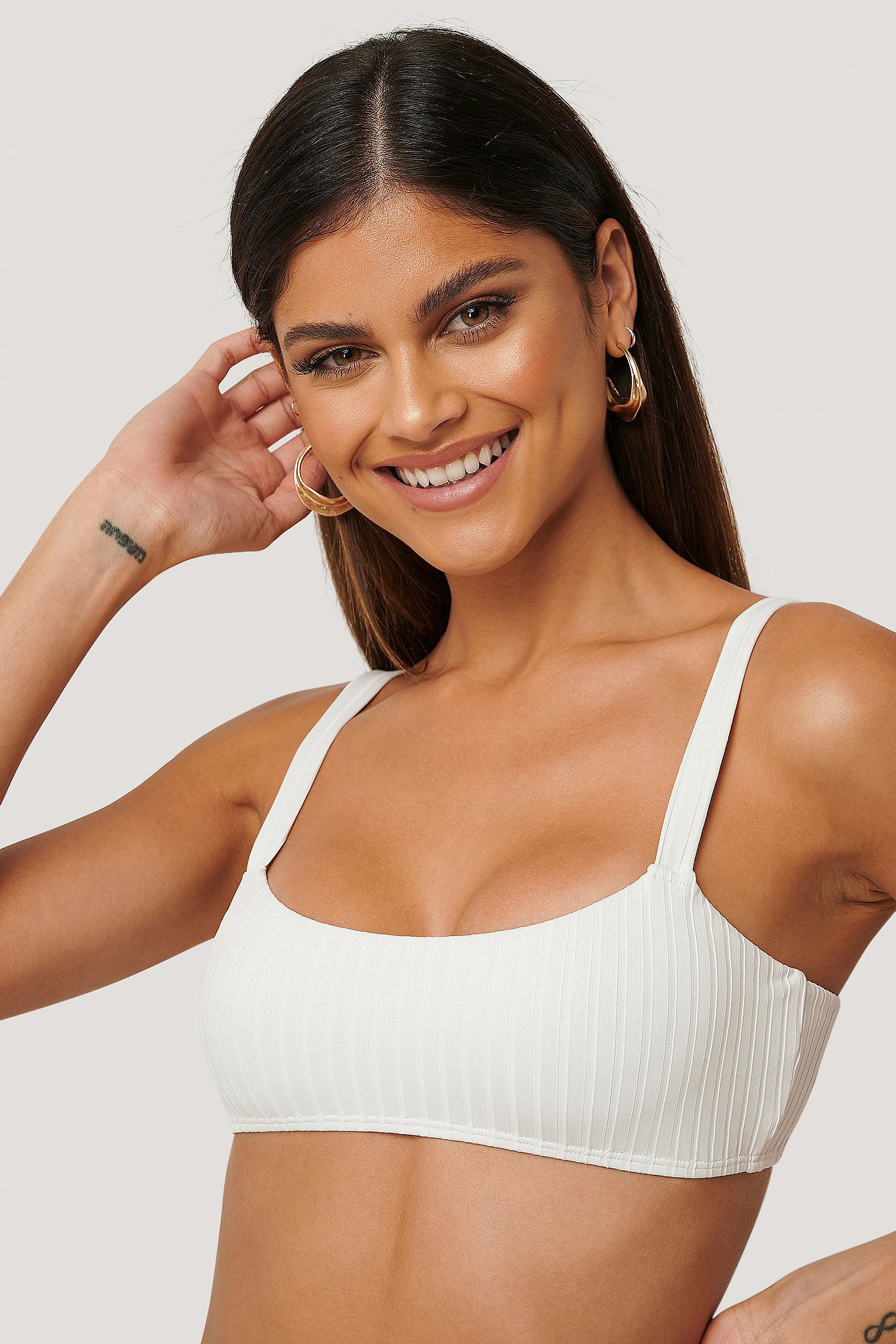 NA-KD Swimwear Bikinitop - White