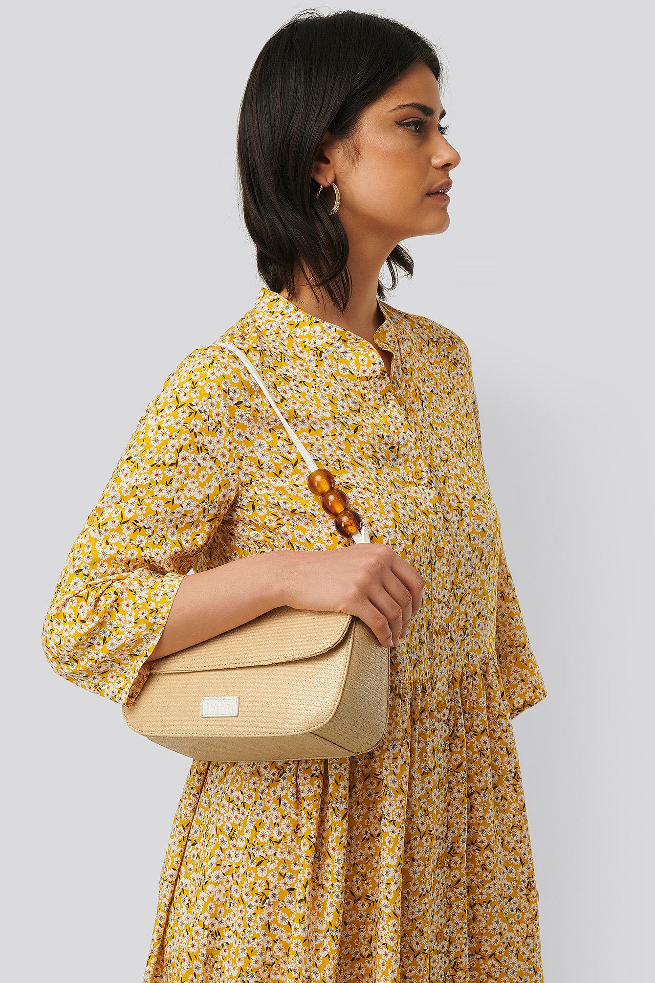 na-kd accessories -  Bead Strap Shoulder Bag - Beige