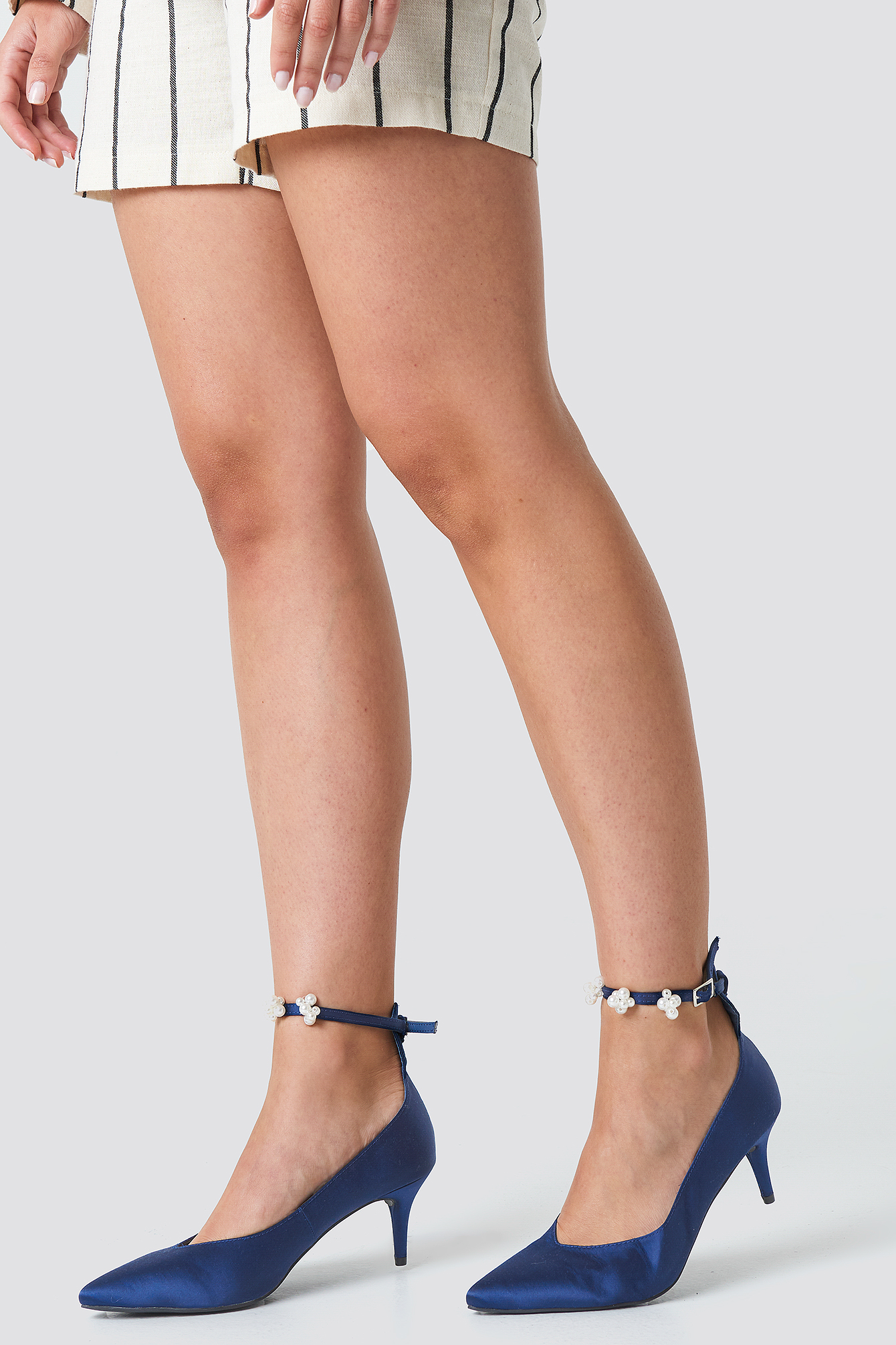 Beaded Ankle Strap Pumps NA-KD.COM
