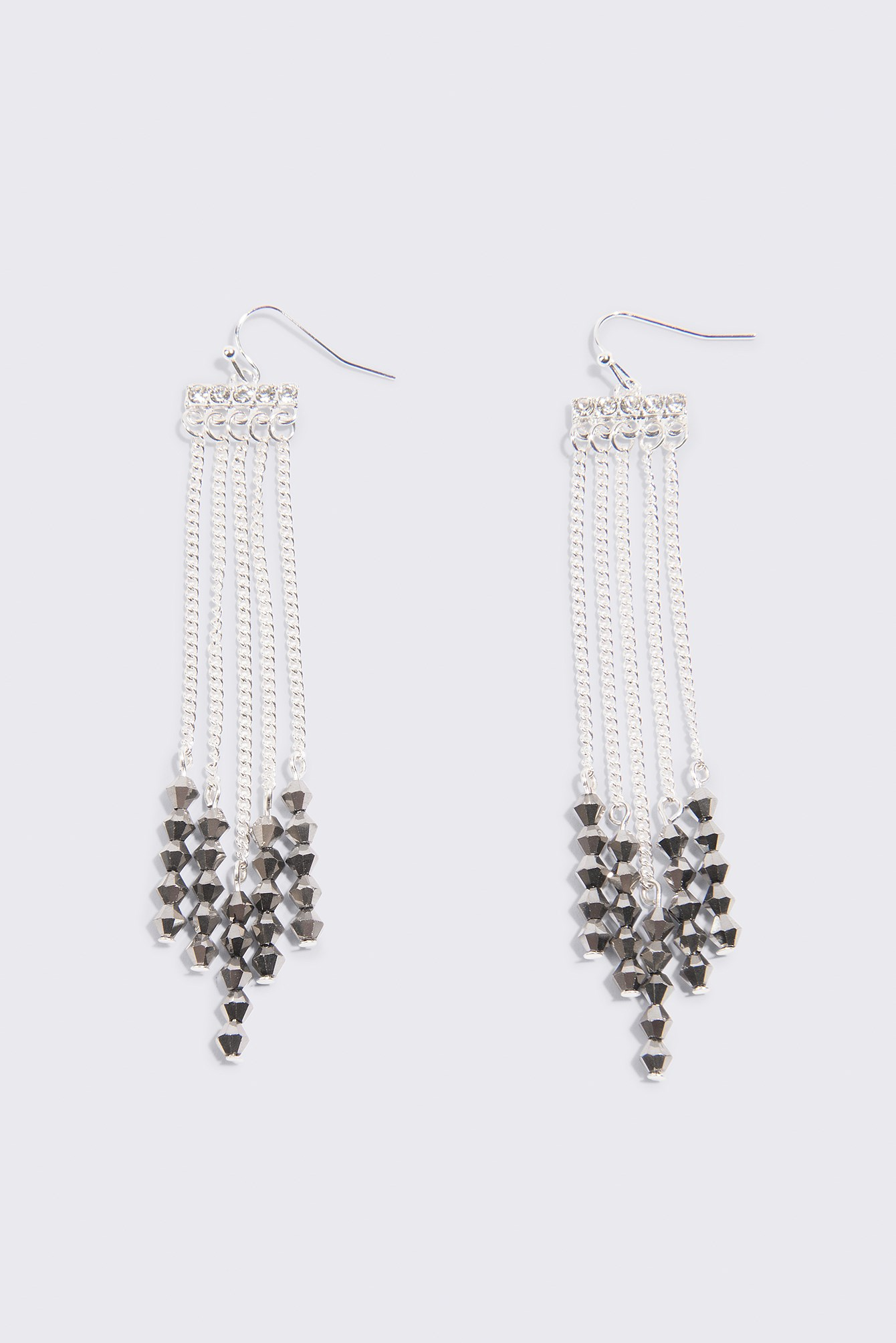 Beaded Chain Tassle Earrings NA-KD.COM