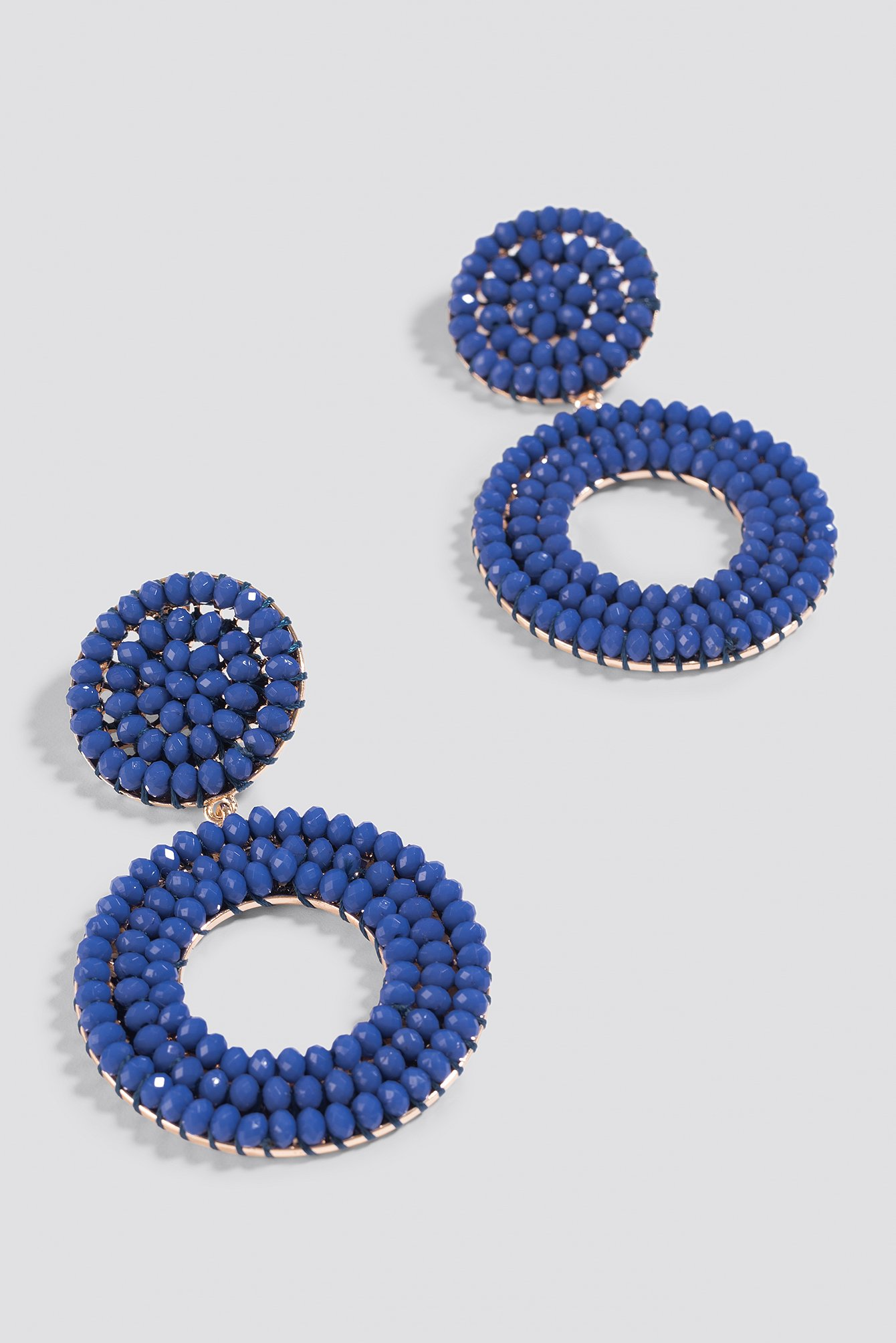 Beaded Hanging Hoop Earrings NA-KD.COM