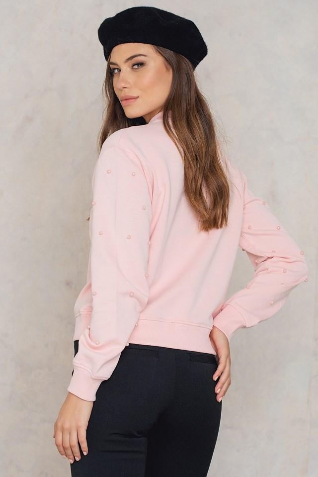 Beaded Sleeve Sweater NA-KD.COM