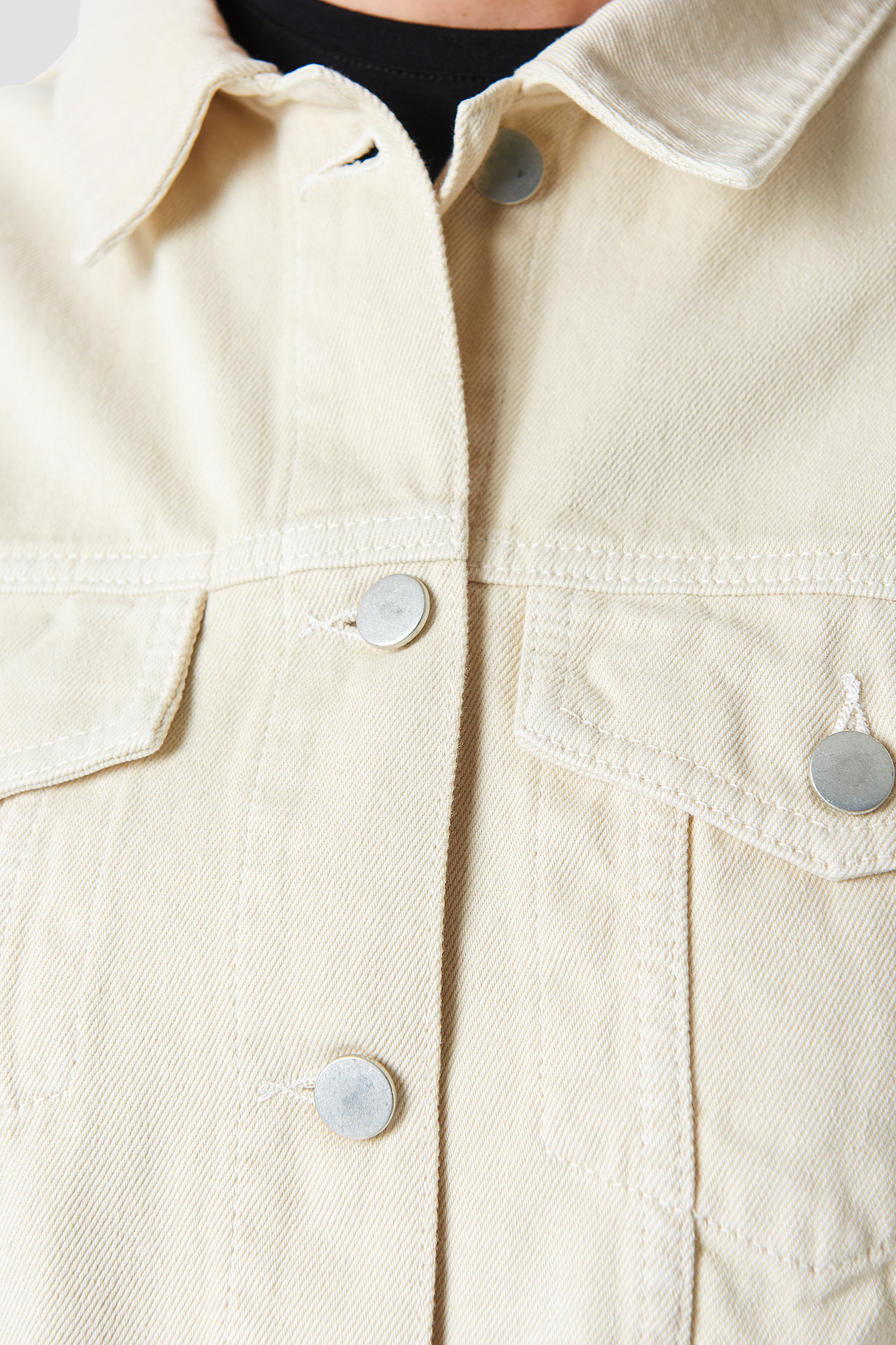 Beige Denim Jacket NA-KD.COM